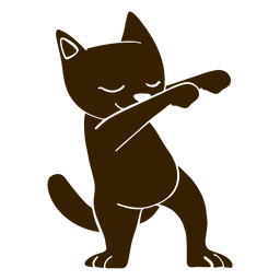 Cat dance dancing detailed silhouette