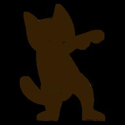 Dança de gato dançando silhueta detalhada