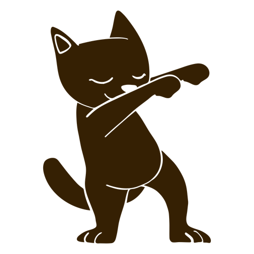 Cat dance dancing detailed silhouette Transparent PNG
