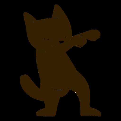 Danza de gato bailando silueta detallada