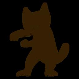 Gato bailando danza silueta detallada