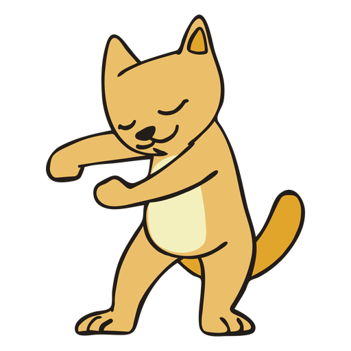 Cat dancing dance flat stroke