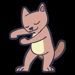 Gato bailando baile trazo plano