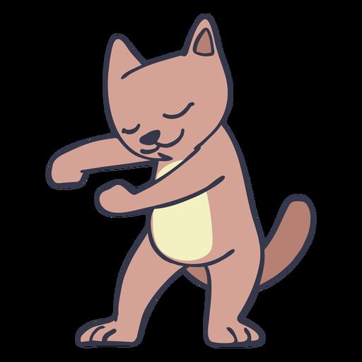 Gato bailando baile trazo plano Transparent PNG