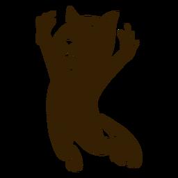 Die Katze glückliches ausführliches Schattenbild springend