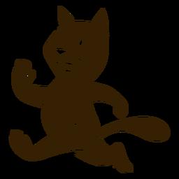 Katze, die ausführliche Silhouette laufen lässt