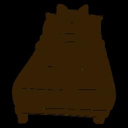 Ausführliches Schattenbild des Katzenschlafenbetts