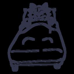 Cat sleeping bed stroke
