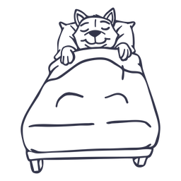 Katzenschlafen Bett Schlaganfall
