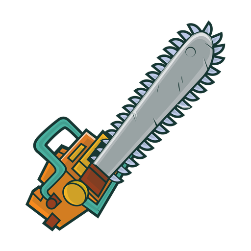 Chain saw gas chainsaw sketch Transparent PNG