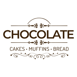 Insignia de pan de muffins de tortas de chocolate pegatina