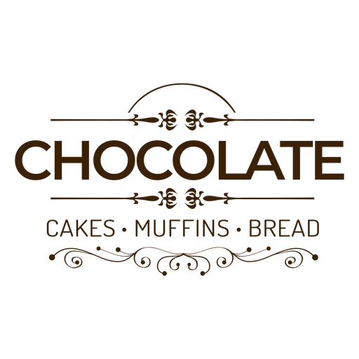 Chocolate cakes muffins bread badge sticker Transparent PNG