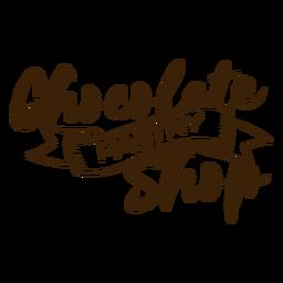 Adesivo de loja de pastelaria de chocolate