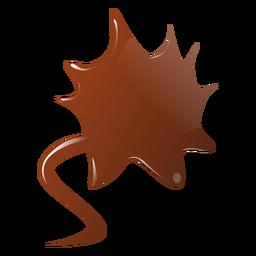 Adesivo plano de mancha de chocolate