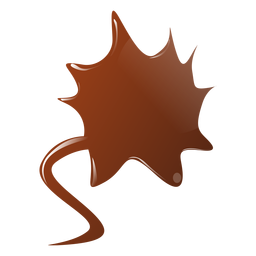Chocolate blot flat sticker