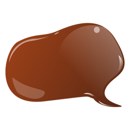Chocolate bubble flat sticker