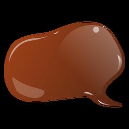 Etiqueta engomada plana de burbujas de chocolate