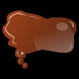 Etiqueta engomada plana gota de chocolate