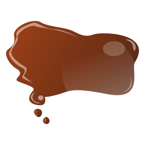 Chocolate drop flat sticker Transparent PNG