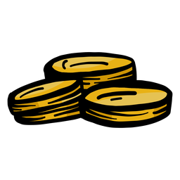 Trazo plano de moneda