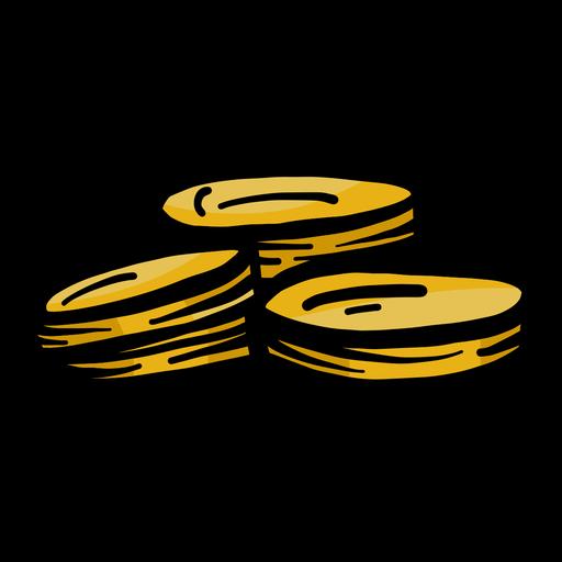 Golpe plano de moneda Transparent PNG