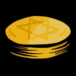 Moneda estrella trazo plano