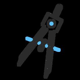 Curso plano da bússola