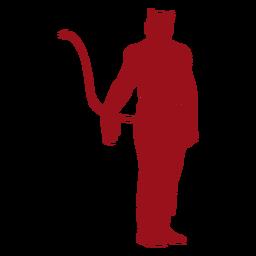 Silhueta de cauda de chifre de diabo