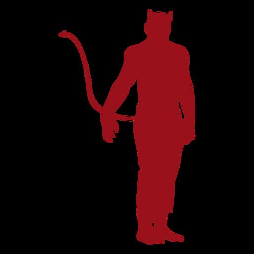 Silhueta de cauda de chifre de diabo Transparent PNG