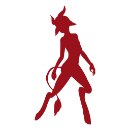 Devil tail horn silhouette
