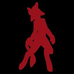 Silhueta de chifre de cauda de diabo