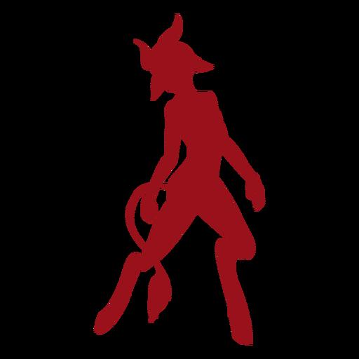 Silhueta de chifre de cauda de diabo Transparent PNG