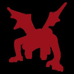Silueta del ala del diablo