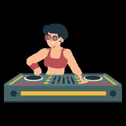Dj woman mixer flat