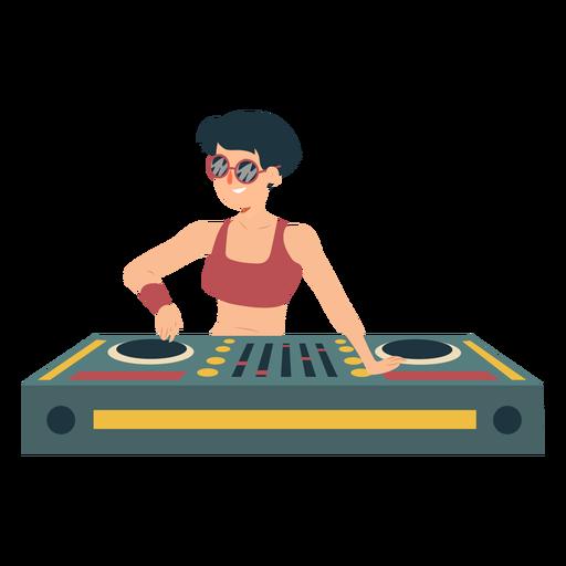 Dj woman mixer flat Transparent PNG