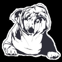 Ilustración de perro buldog