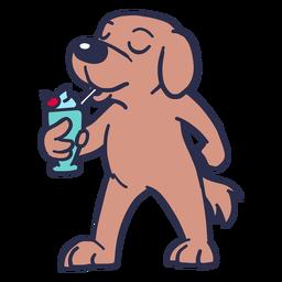 Perro cóctel plano trazo