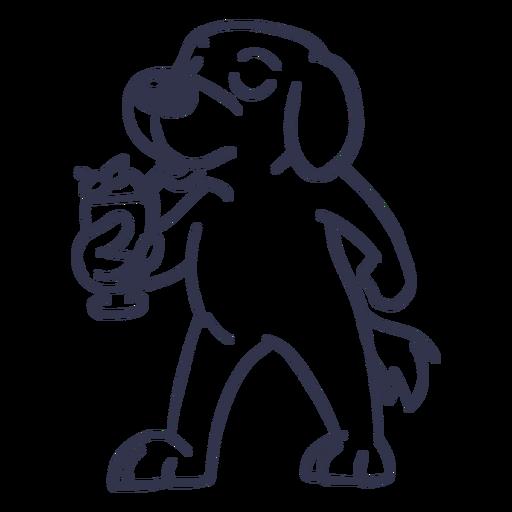 Golpe de cóctel de perro