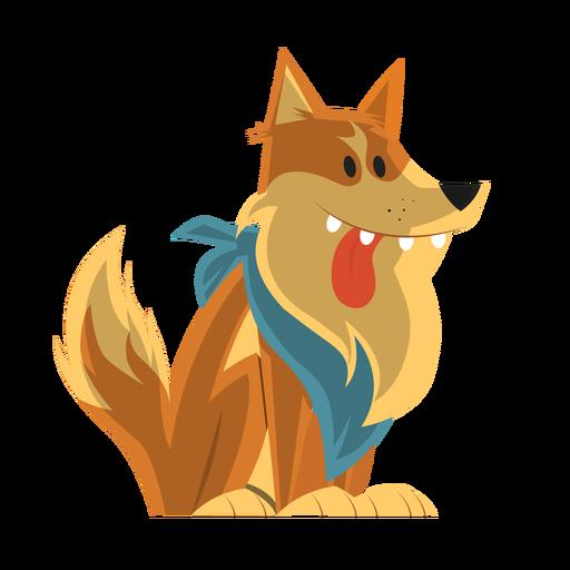 Dog collie sketch