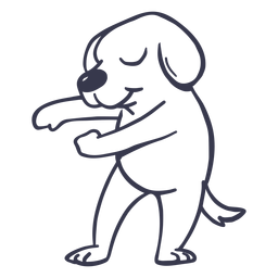 Hund tanzen tanzen Schlaganfall