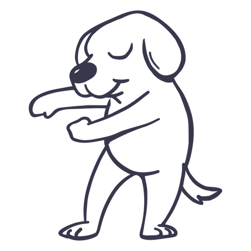 Dog dance dancing stroke Transparent PNG