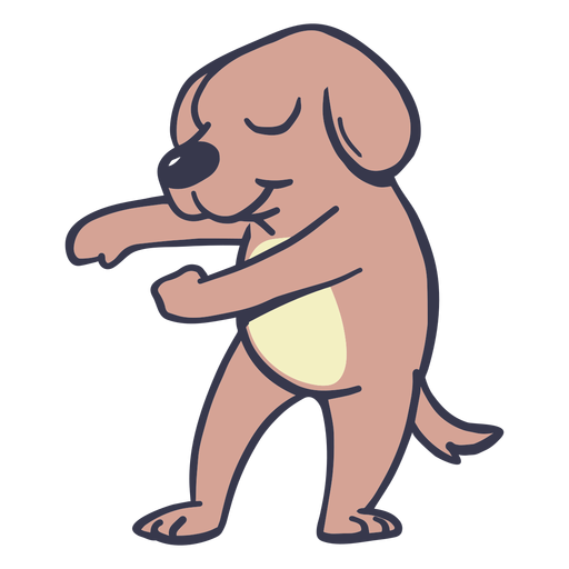 Dog dance dancing stroke flat Transparent PNG