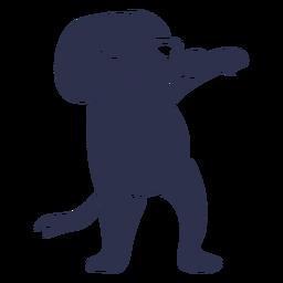 Cão dança dança detalhada silhueta