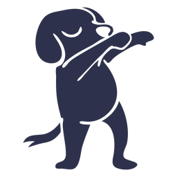 Dog dancing dance detailed silhouette