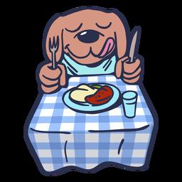 Plato para perro mesa trazo plano