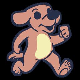 Cachorro correndo traço plano