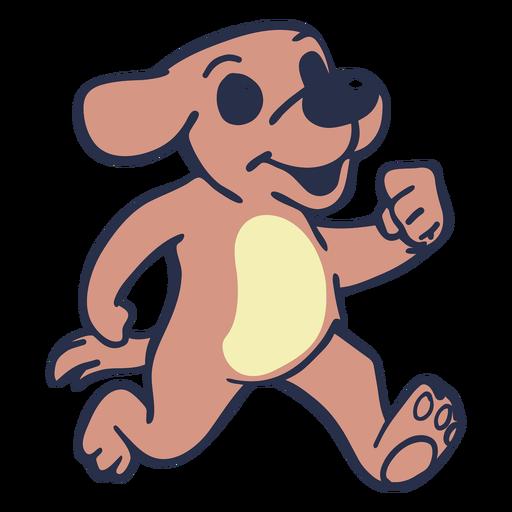 Perro corriendo carrera plana Transparent PNG