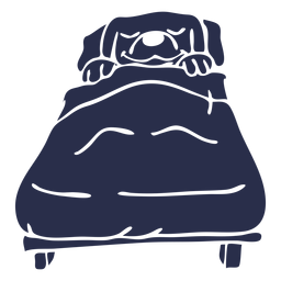 Dog sleeping bed detailed silhouette
