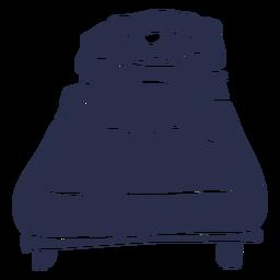 Perro durmiendo cama silueta detallada