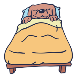 Perro durmiendo cama plano